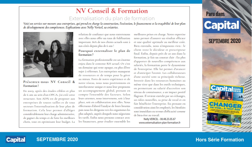 Article Hors Série Formation_Capital_NV Conseil&Formation_Sept 2020_001